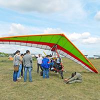 Полеты на параплане,паралете, дельталете и легком самолете в Москве